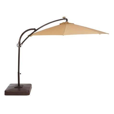 10 Ft Cantilever Patio Umbrella 11ft Solar Offset Umbrella Replacement Canopy Garden Winds