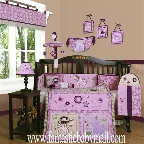 crib bedding sets discount baby bedding set boutique animal kingdom 13pcs