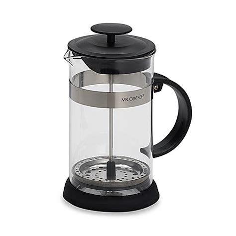 bed bath and beyond french press mr coffee 174 4 cup coffee press in black bed bath beyond