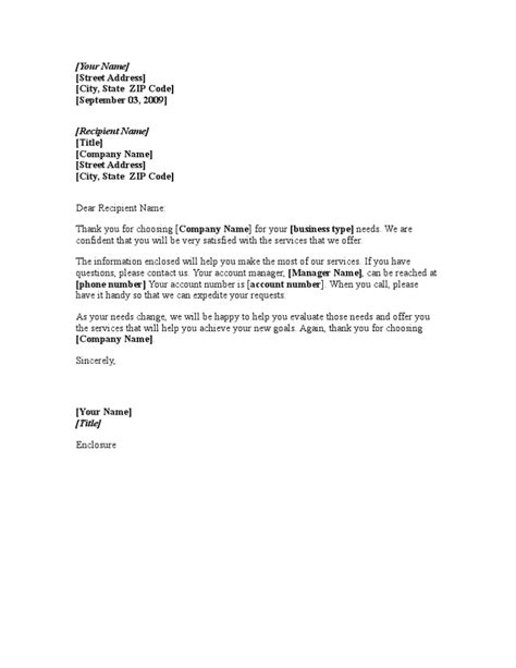 Customer Letter Of Agency 9 Welcome Letter Sles Sle Letters Word