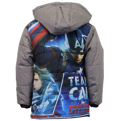 Vest Hoodie Captain America Civil War boys captain america jacket padded marvel disney civil war hooded ebay