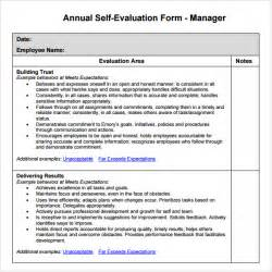 Manager Evaluation Template manager evaluation 3 free for pdf