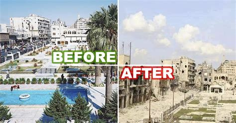 syria before and after 28 before and after pictures tell you what war did to the