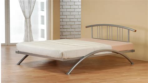 Curved Bed Frame Curved Metal Bed Frame Homegenies