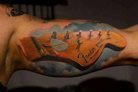 tattoo guitar body fender guitar tat by den yakovlev tattoos pinterest