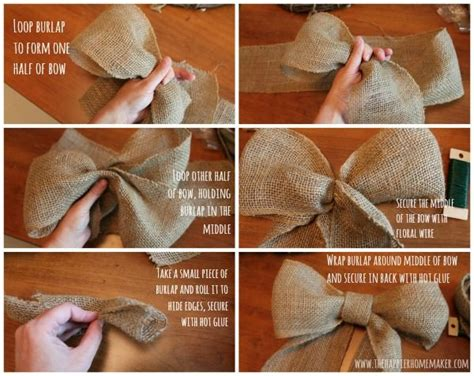 how to place burlap bow and burlap streamers on christmas tree best 25 burlap bow tutorial ideas on wreath bows diy bow and bows for wreaths