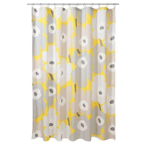 marimekko curtain shower curtain marimekko unikko yellow bathroom decor