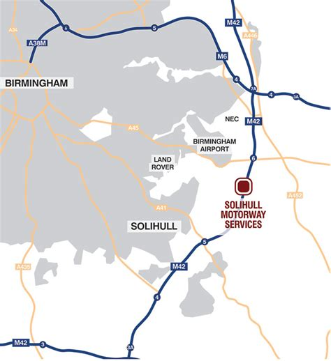 map uk motorway services solihull motorway service area