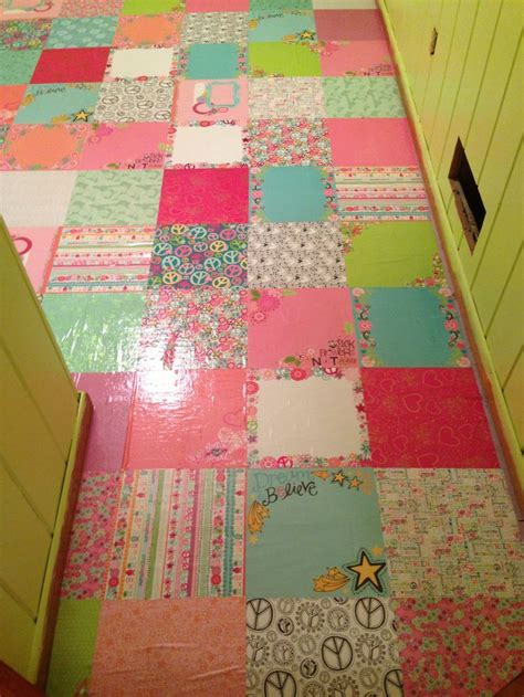Decoupage Floors - paper floor covering gurus floor