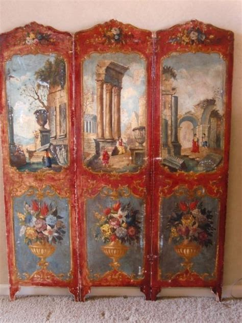Vintage Painted Tri Fold Room 43 Best Images About Folding Screen On