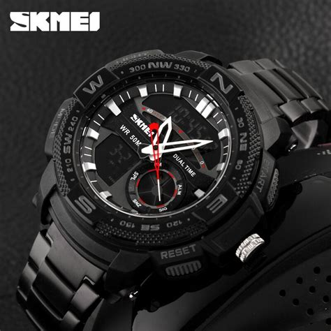 Jam Tangan Vinergy Water Resistant skmei jam tangan analog digital pria ad1121 black jakartanotebook