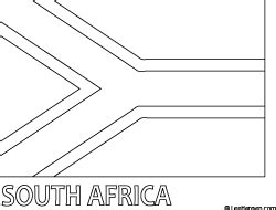 south africa flag coloring page coloring pinterest