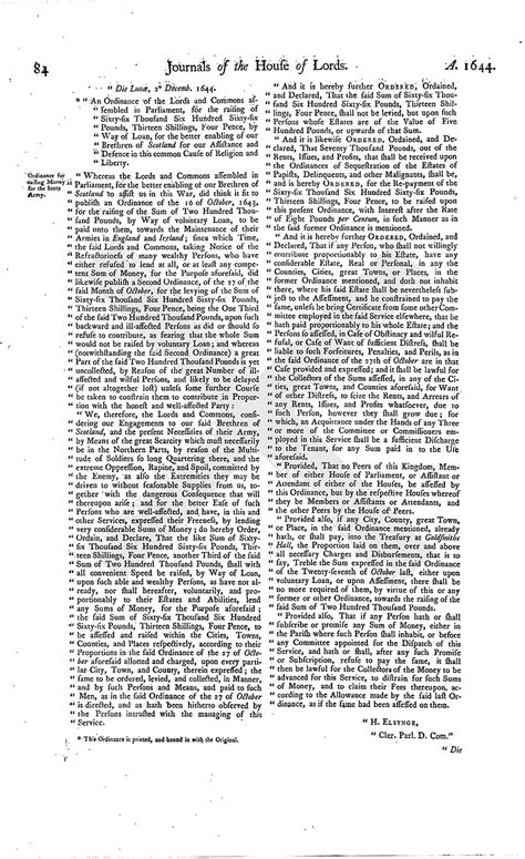 section 179 history house of lords journal volume 7 3 december 1644 british