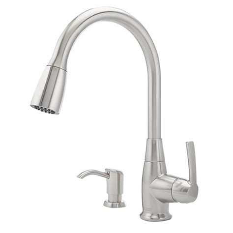 franke kitchen faucet franke 115 0287 058 higharc pullout kitchen faucet satin nickel soap dispenser ebay