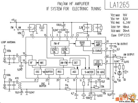LA1265 audio IC circuit   Audio Circuit   Circuit Diagram