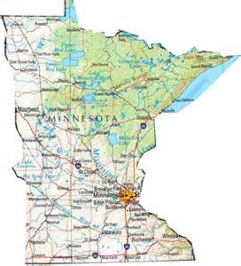 Mn State Map by Map Of Minnesota Mn State Map