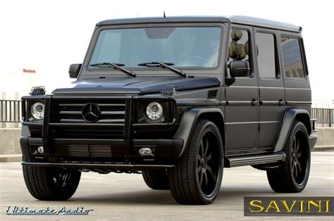 mercedes jeep matte black g wagen savini wheels