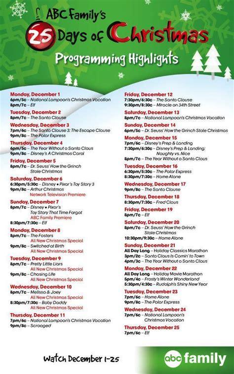 abc family fun day tv schedule autos post
