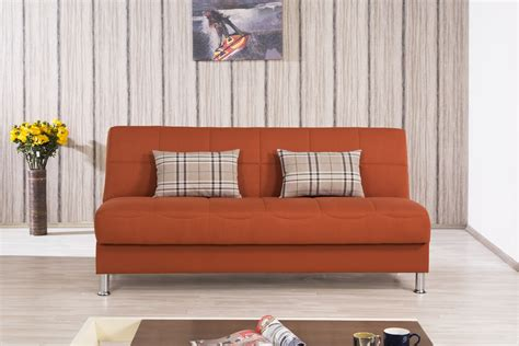 convertible sofa bed eco plus orange convertible sofa bed by casamode