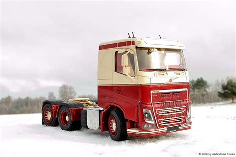 volvo model trucks volvo fh4 flat roof a n model trucks 1 24 andrey