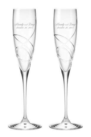 Personalized Lenox Adorn Signature Toasting Flutes   David's Bridal