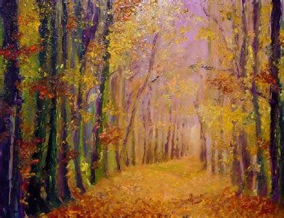 Trees Admirer of an admirer autumn trees in painting by