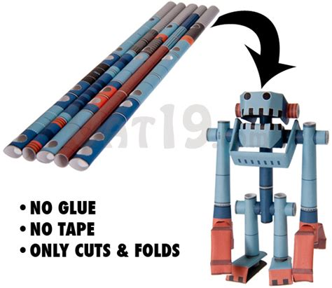 How To Make Paper Robot - piperoid paper pipe robots craft robots made entirely