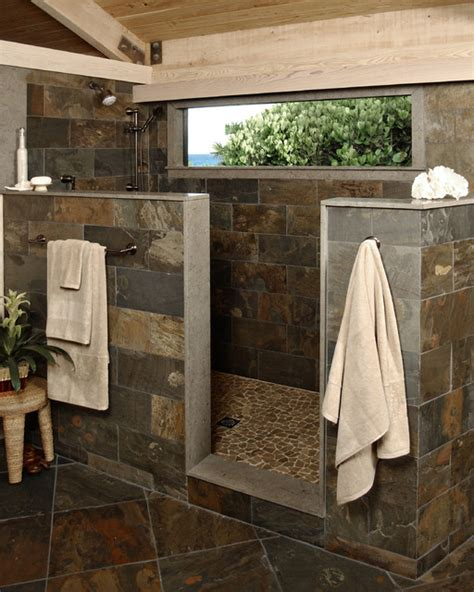 rustic shower modern bathroom other metro by beres design