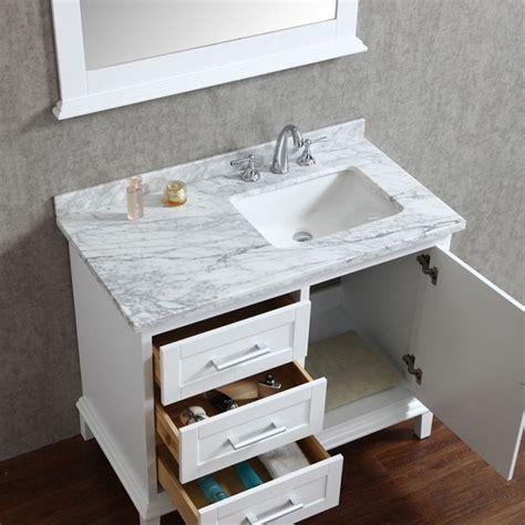 42 inch bathroom cabinet ace 42 inch single white bathroom vanity set with mirror
