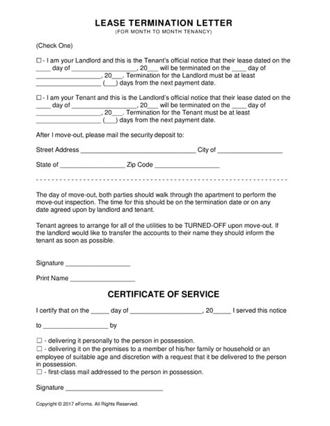 landlord termination of lease letter template lease termination letter gplusnick