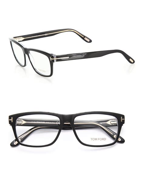 tom ford 56mm square acetate optical glasses in black lyst
