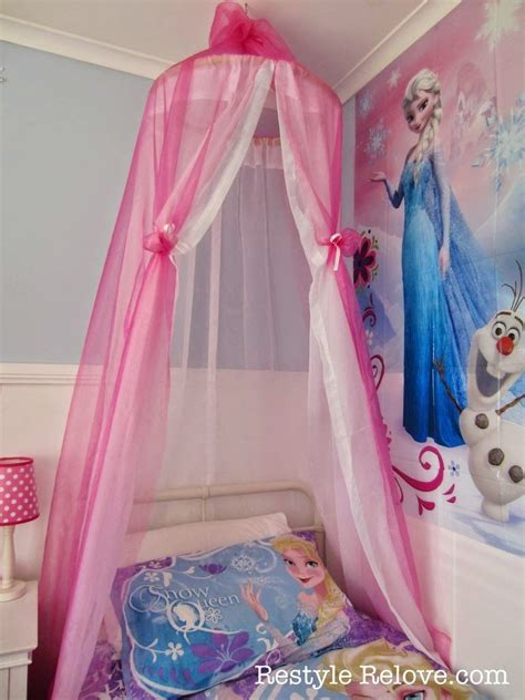 little girl bed canopy restyle relove a new bed and diy bed canopy for my frozen