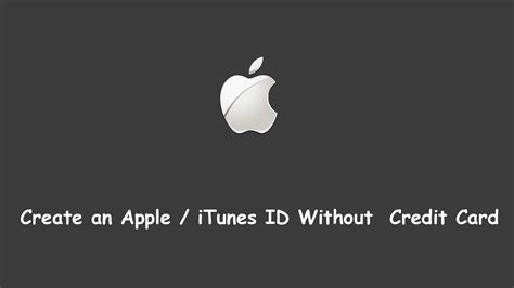 how make an apple id without a credit card how to create an apple id without credit card