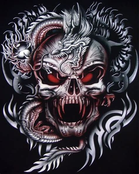 dragon and skull tattoo designs 25 skull designs