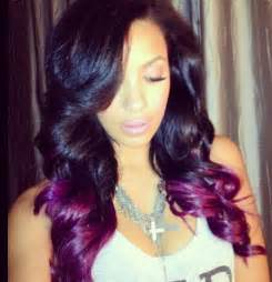 ombre weave hair st purple ombre 17th birthday wish pinterest