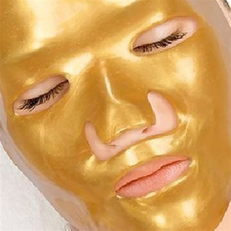 gold mask collagen maker wajah gold collagen mask