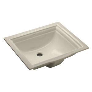 kohler memoirs undermount bathroom sink kohler memoirs vitreous china undermount bathroom sink in biscuit with overflow drain