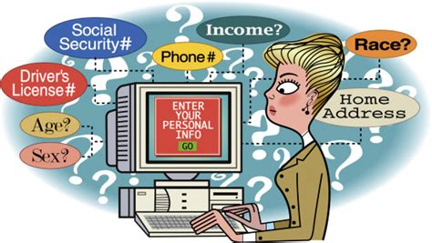 Sometimes I Think I Much Personal Inform 2 by Businesswoman Feeding Personal Information On Computer
