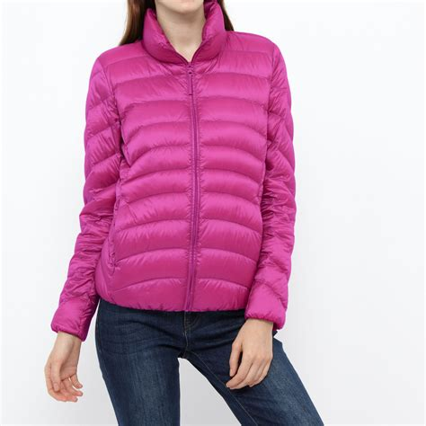 uniqlo ultra light jacket review uniqlo ultra light jacket in pink for lyst
