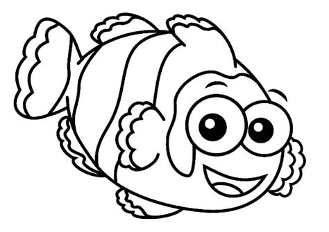 coloring pages of big eyes clown fish with big eyes coloring pages clown fish with