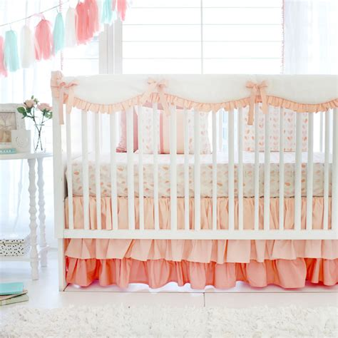 once upon a time bedding girl peach crib rail cover set baby girl bedding baby