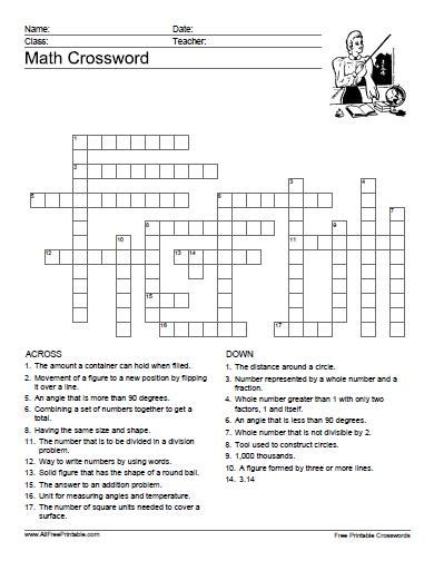 printable algebra puzzle crossword printable search results calendar 2015