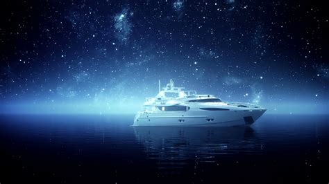 expensive sailboat expensive leisure boat under blue night sky stars yacht