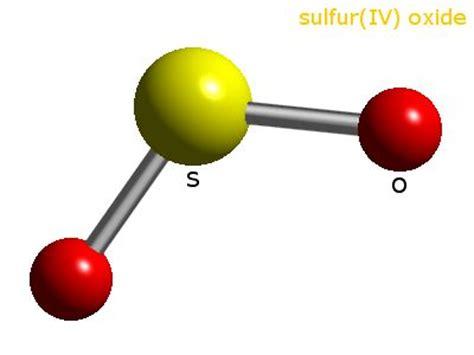 sulfur dioxide diagram sulfur dioxide