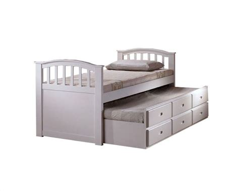 white twin bed with drawers acme furniture twin bed with trundle and drawers in white