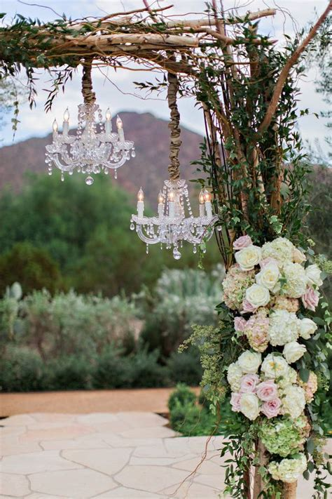 Chandelier Wedding Arch Wedding Decorations 40 Ideas To Use Chandeliers