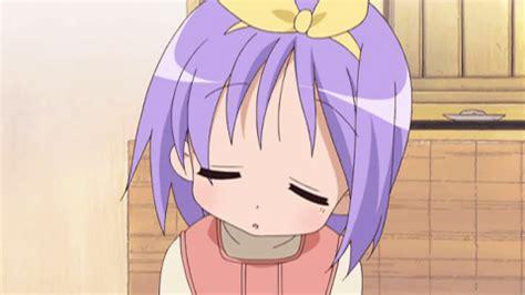 anime gif lucky star sleeping gif find share on giphy