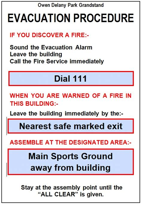Superior Church Evacuation Plan Template #8: Owen-Delany-Park-Evacuation-Procedure.jpg