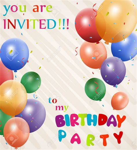 Birthday Invitation Backgrounds   Cloudinvitation.com