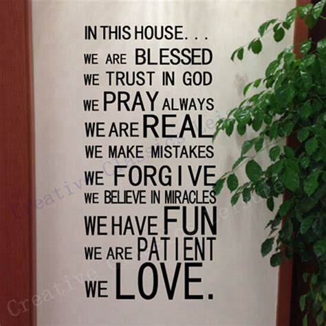prayer for buying a new house aliexpress com buy free shipping god wall stickers christian wall art home decor